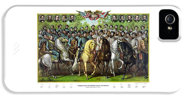 Forrest iPhone 5 Cases - Civil War Generals and Statesman With Names iPhone 5 Case by War Is Hell Store