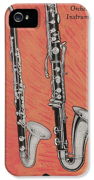 Clarinet And Giant Boehm Bass IPhone 5 / 5s Case by American School