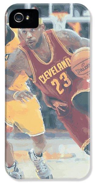 Cleveland Cavaliers Lebron James 3 IPhone 5 / 5s Case by Joe Hamilton