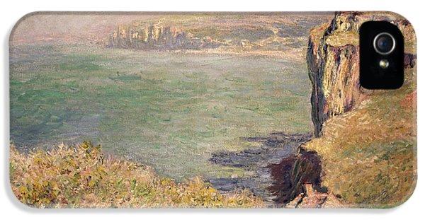 Cliff At Varengeville IPhone 5 / 5s Case by Claude Monet