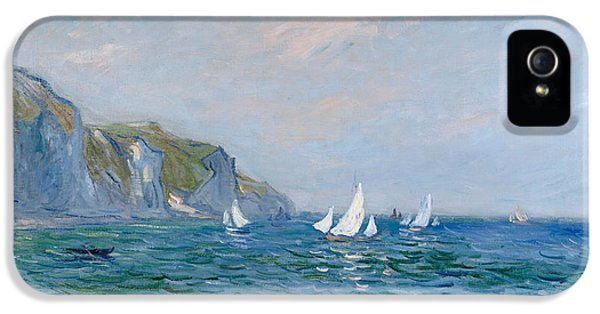 Cliffs And Sailboats At Pourville  IPhone 5 / 5s Case by Claude Monet