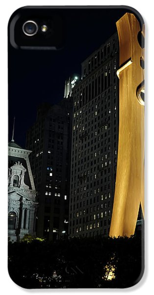 Clothespin At Night - Philadelphia IPhone 5 / 5s Case by Rona Black