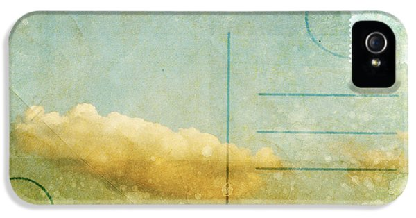 Communication iPhone 5 Cases - Cloud And Sky On Postcard iPhone 5 Case by Setsiri Silapasuwanchai