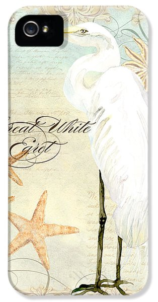 Coastal Waterways - Great White Egret 3 IPhone 5 / 5s Case by Audrey Jeanne Roberts