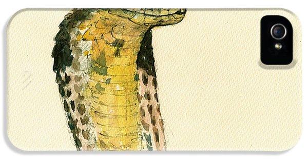 Cobra Snake Poster IPhone 5 / 5s Case by Juan  Bosco