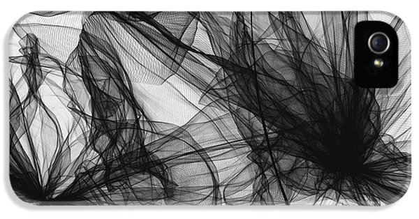 Coherence - Black And White Modern Art IPhone 5 / 5s Case by Lourry Legarde
