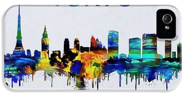 Colorful Tokyo Skyline Silhouette IPhone 5 / 5s Case by Dan Sproul