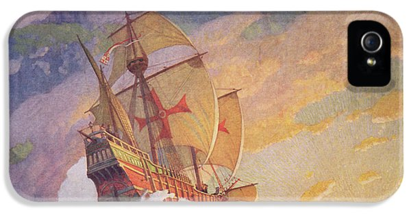 Columbus Crossing The Atlantic IPhone 5 / 5s Case by Newell Convers Wyeth