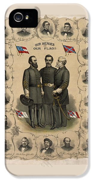 Confederate Generals Of The Civil War IPhone 5 / 5s Case by War Is Hell Store