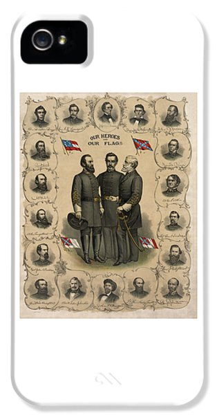 War iPhone 5 Cases - Confederate Generals of The Civil War iPhone 5 Case by War Is Hell Store