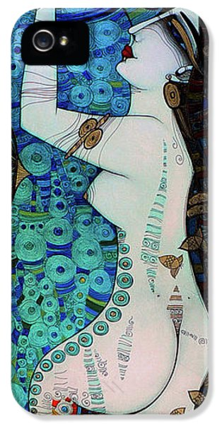 Albena iPhone 5 Cases - Confessions In Blue iPhone 5 Case by Albena Vatcheva