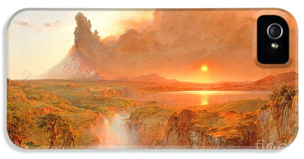 Element iPhone 5 Cases - Cotopaxi iPhone 5 Case by Frederic Edwin Church