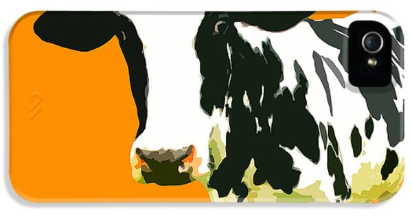 Cow In Orange World IPhone 5 / 5s Case by Peter Oconor