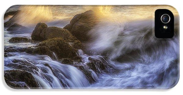 Oregon Coast iPhone 5 Cases - Crashing Light iPhone 5 Case by Darren  White