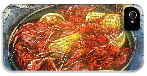 Street Scene iPhone 5 Cases - Crawfish Celebration iPhone 5 Case by Dianne Parks