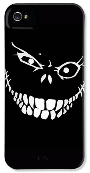 Monster iPhone 5 Cases - Crazy Monster Grin iPhone 5 Case by Nicklas Gustafsson