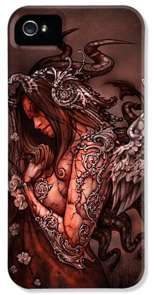 Angel iPhone 5 Cases - Cthluhu Princess iPhone 5 Case by David Bollt