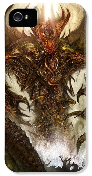 Monster iPhone 5 Cases - Cthulhu Rising iPhone 5 Case by Alex Ruiz