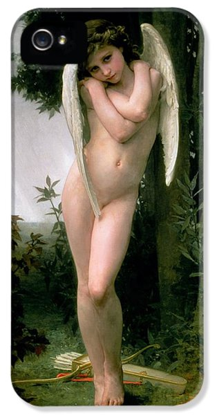 Angelic iPhone 5 Cases - Cupidon iPhone 5 Case by William Adolphe Bouguereau