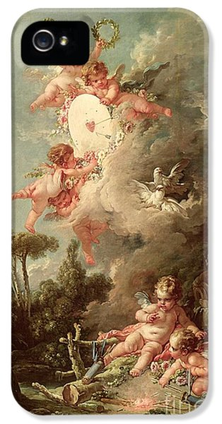 Fire iPhone 5 Cases - Cupids Target iPhone 5 Case by Francois Boucher