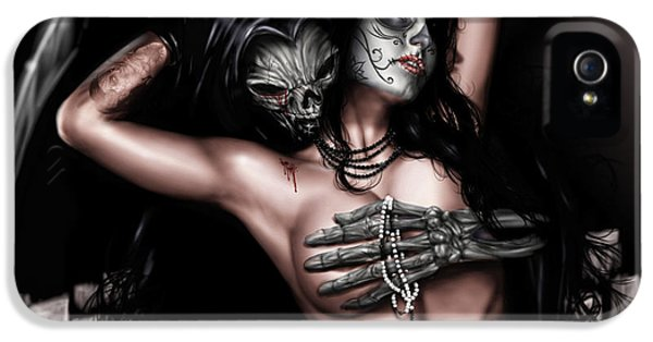 Grim Reaper iPhone 5 Cases - Cure my Tragedy iPhone 5 Case by Pete Tapang