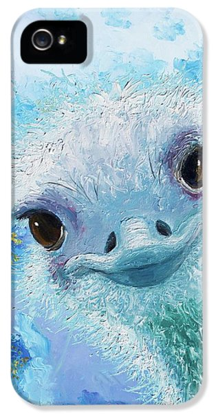 Curious Ostrich IPhone 5 / 5s Case by Jan Matson