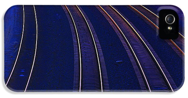 Curve iPhone 5 Cases - Curving Railroad Tracks iPhone 5 Case by Garry Gay