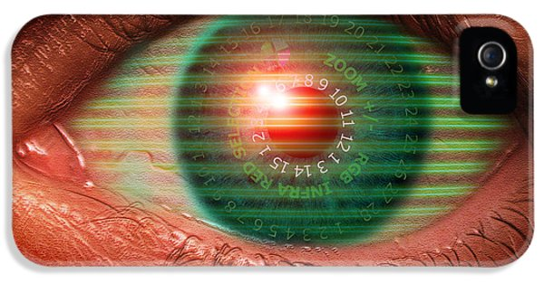 Cyborg iPhone 5 Cases - Cybernetic Eye iPhone 5 Case by Victor Habbick Visions