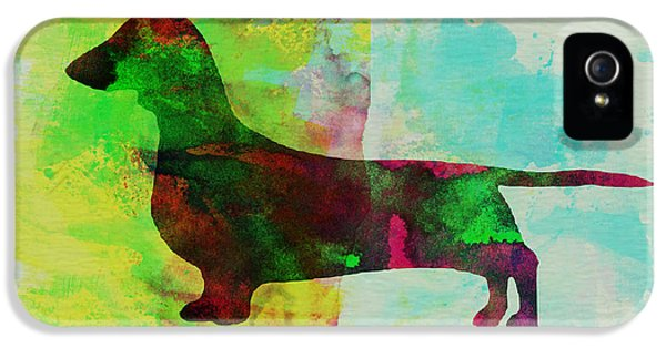 Dachshund Watercolor IPhone 5 / 5s Case by Naxart Studio