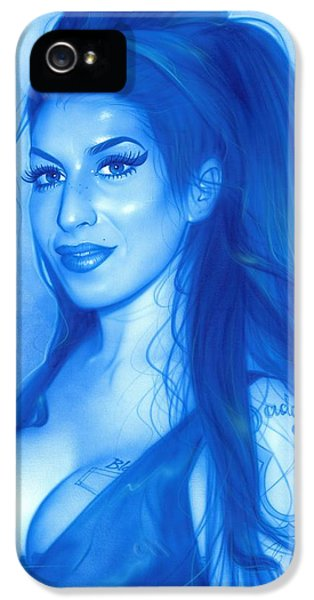 Amy Winehouse - 'daddy's Girl' IPhone 5 / 5s Case by Christian Chapman Art