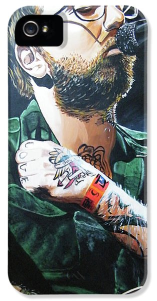 Face iPhone 5 Cases - Dallas Green iPhone 5 Case by Aaron Joseph Gutierrez
