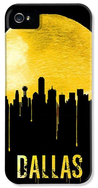 Dallas Skyline Yellow IPhone 5 / 5s Case by Naxart Studio
