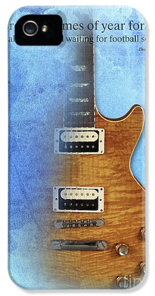 Darius Rucker Inspirational Quote, Electric Guitar Poster For Music Lovers And Musicians IPhone 5 / 5s Case by Pablo Franchi