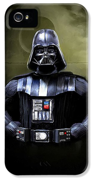 Movies iPhone 5 Cases - Darth Vader Star Wars  iPhone 5 Case by Michael Greenaway