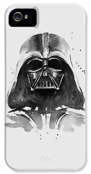 Darth Vader Watercolor IPhone 5 / 5s Case by Olga Shvartsur
