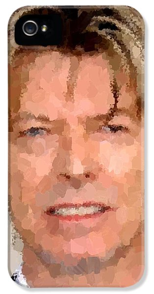 David Bowie Portrait IPhone 5 / 5s Case by Samuel Majcen