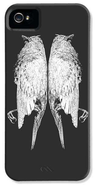 Steam-punk iPhone 5 Cases - Dead Birds Tee White iPhone 5 Case by Edward Fielding