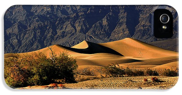 Hot Western iPhone 5 Cases - Death Valleys Mesquite Flat Sand Dunes iPhone 5 Case by Christine Till