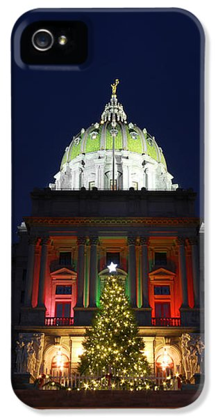 House Of Representatives iPhone 5 Cases - Deck the Halls iPhone 5 Case by Shelley Neff
