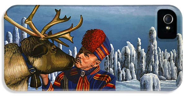 Deer Friends Of Finland IPhone 5 / 5s Case by Paul Meijering