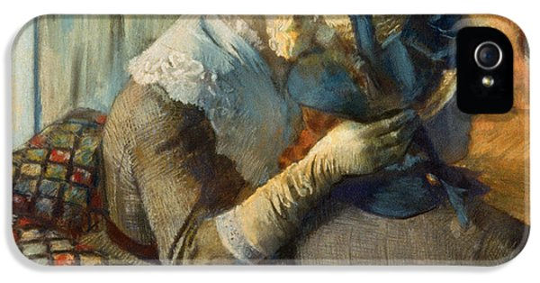 Hatmaker iPhone 5 Cases - Degas: At Milliners, 1885 iPhone 5 Case by Granger