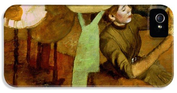 Hatmaker iPhone 5 Cases - Degas: Milliner, 1879-84 iPhone 5 Case by Granger