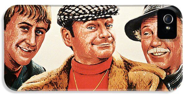 Boys Only iPhone 5 Cases - Del Boy Rodney and Grandad iPhone 5 Case by Andrew Read