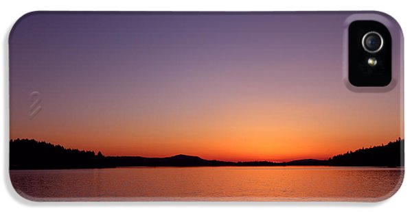 Dexter Prints iPhone 5 Cases - Dexter Lake Sunset iPhone 5 Case by Kami McKeon