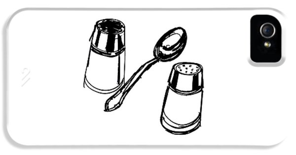 Diner Drawing Salt, Pepper, And Spoon IPhone 5 / 5s Case by Chad Glass