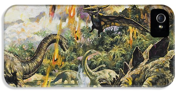 Dinosaurs And Volcanoes IPhone 5 / 5s Case by English School