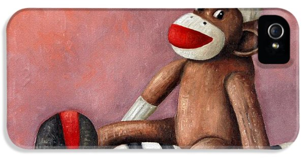 Dirty Socks 3 Playing Dirty IPhone 5 / 5s Case by Leah Saulnier The Painting Maniac