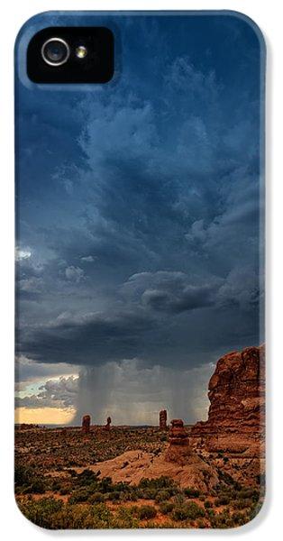 American Western iPhone 5 Cases - Distant Desert Storm iPhone 5 Case by Rick Berk
