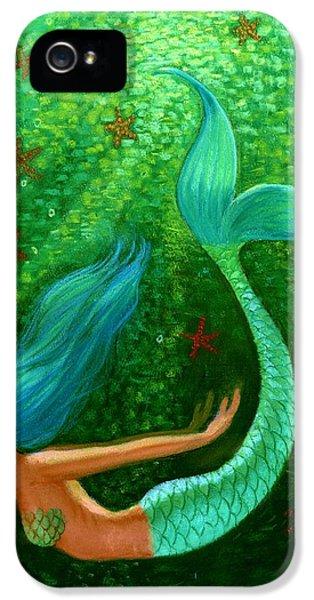 Diving Mermaid Fantasy Art IPhone 5 / 5s Case by Sue Halstenberg