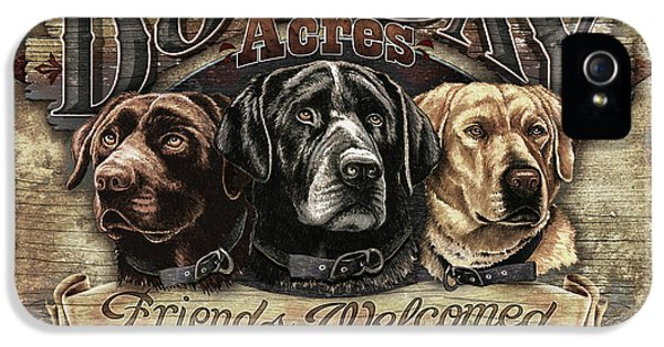 Friend iPhone 5 Cases - Dog Day Acres Sign iPhone 5 Case by JQ Licensing